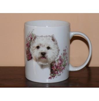 Porcelánový hrnek se psem